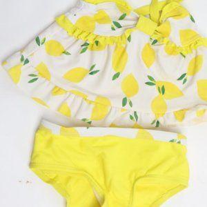 Koala Kids Lemon print two piece tankini swimsuit